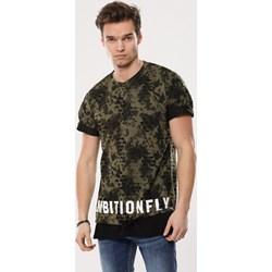 fcb766efd15d4a T-shirt męski zielony Born2be z krótkim rękawem