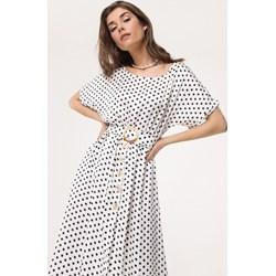 0ad1cf00 Sukienka Born2be mini w groszki z długim rękawem retro