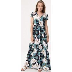 f66174bb Sukienka Born2be na spacer w kwiaty z krótkimi rękawami w serek