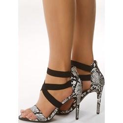 9b06e03ac670db Brązowe sandały damskie Born2be z zamkiem na szpilce eleganckie
