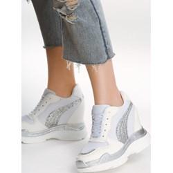 df935678 Sneakersy damskie Born2be młodzieżowe gładkie sznurowane