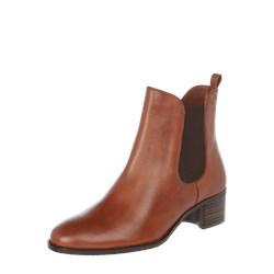 9b8c2018 Botki Gerry Weber Shoes na słupku z zamkiem bez wzorów ze skóry