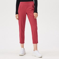 2e37196919f1d0 Czerwone spodnie damskie Sinsay bez wzorów
