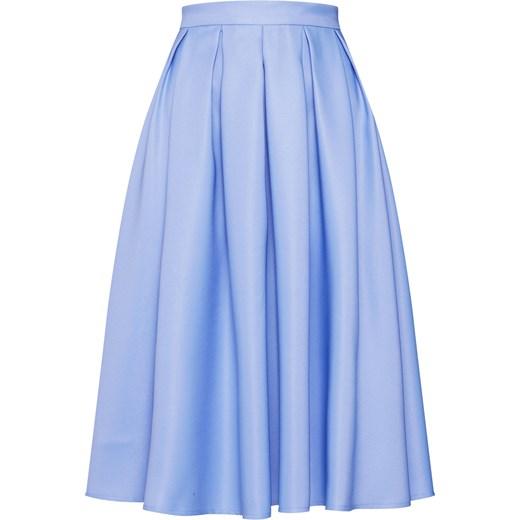 Spódnica Chi Chi London midi elegancka Odzież Damska ED niebieski Spódnice JKUY szyk