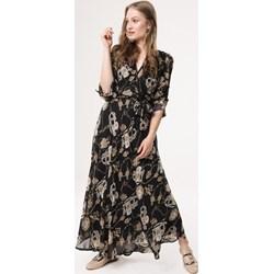 4a17401f Sukienka Born2be na spacer z długim rękawem