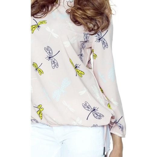 tani Bluzka damska Bergamo różowa z długimi rękawami Odzież
