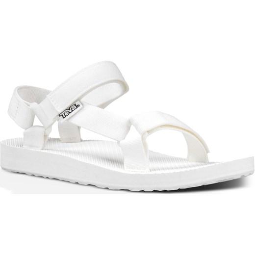 Sandały damskie Teva casualowe białe płaskie bez wzorów Buty Damskie JQ biały Sandały damskie LONC