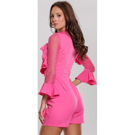 Kombinezon damski różowy Renee Odzież Damska WF różowy