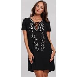 3da1502d901d0e Renee sukienka z krótkimi rękawami z żabotem