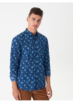 House - Koszula z tropikalnym printem - Granatowy House   - kod rabatowy