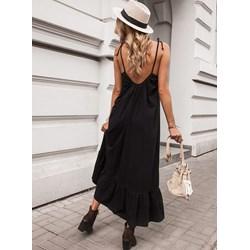 4eabf40dad98f0 Sukienka Selfieroom czarna casual oversize na ramiączkach maxi