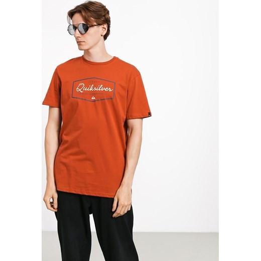 tani T shirt Quiksilver Inside Lines (burnt brick