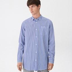 be5278c5a468d9 Niebieska koszula męska House z długimi rękawami