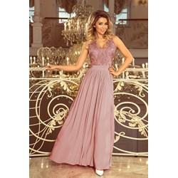 c2f8c58c63cae7 Sukienka Numoco karnawałowa elegancka różowa na bal w serek