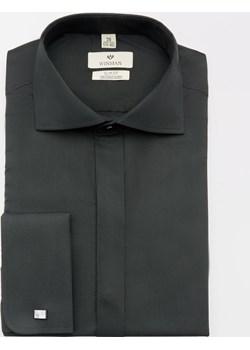 koszula wincass 2411 na spinki slim fit czarny Recman   - kod rabatowy