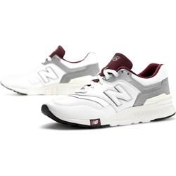 2794b31a5deaf9 Białe buty sportowe męskie New Balance z tworzywa sztucznego sznurowane na  wiosnę