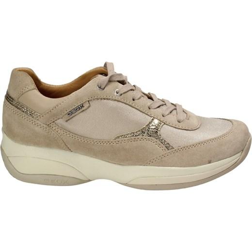 Sneakersy damskie brązowe Chebello sznurowane w Domodi