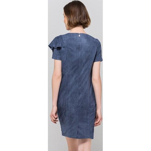 nowy Sukienka Monnari z krótkim rękawem zamszowa na wiosnę