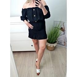 eb09f79b1f8882 Sukienka czarna mini z odkrytymi ramionami