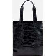 8937e6d7 Shopper bag Reserved z tłoczeniem elegancka do ręki bez dodatków