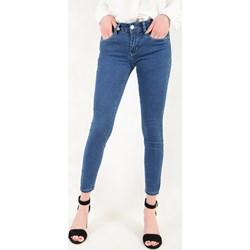 00d98b63 Damskie spodnie rurki jeansowe jasno niebieskie z wyższym stanem ...