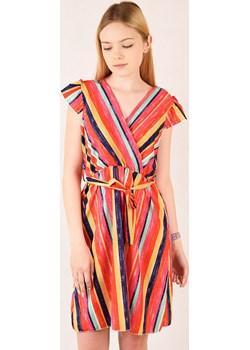 Sukienka w paski   wyprzedaż berry.com.pl  - kod rabatowy