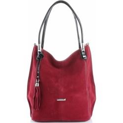 b7c81cc7e35df4 Shopper bag Silvia Rosa czerwona zamszowa