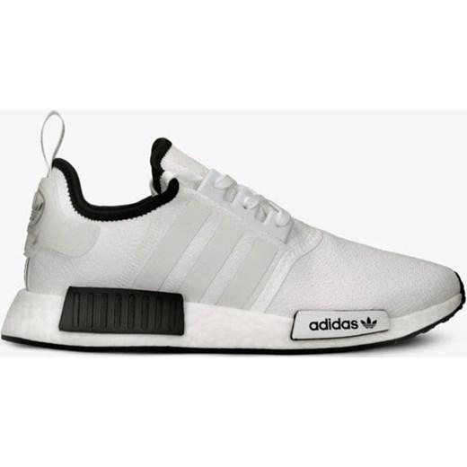 f7ea94b4db799c ... Buty sportowe damskie Adidas do biegania nmd białe na płaskiej  podeszwie bez wzorów sznurowane ...