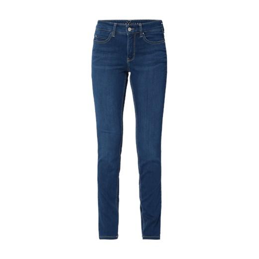 80% ZNIŻKI Dżinsy w odcieniu Stone Washed o kroju Skinny Fit Mac Fashion ID GmbH & Co. KG Odzież Damska GN niebieski Jeansy damskie NQLO