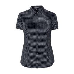 e56b7064 Koszula damska Montego w abstrakcyjnym wzorze z krótkim rękawem
