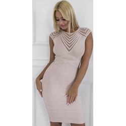 5b5ee792023968 Sukienka ołówkowa z okrągłym dekoltem na urodziny mini