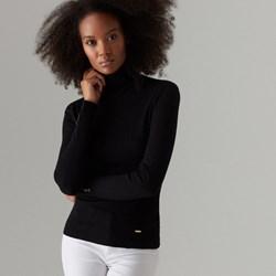 d9ff4d9f Sweter damski Mohito czarny z golfem gładki
