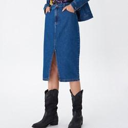 ddf679e4 House spódnica niebieska midi bez wzorów w miejskim stylu