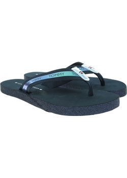 Granatowe Japonki TOMMY HILFIGER Flat Beach Sandal Ir FW0FW04016 403 Tommy Hilfiger  Riccardo - kod rabatowy