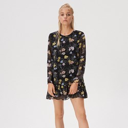 f37e7cef262734 Wielokolorowa sukienka Sinsay casual z długim rękawem mini