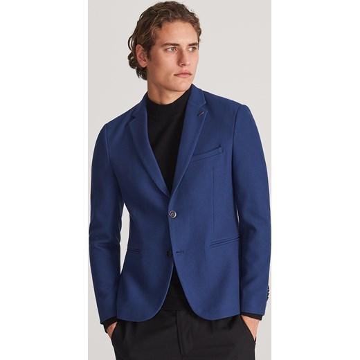 Reserved marynarka męska niebieska bez zapięcia Odzież Męska
