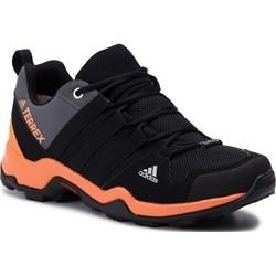 ef6627e5238adc Buty sportowe damskie Adidas terrex bez wzorów na płaskiej podeszwie wiązane