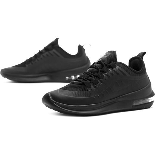 Buty sportowe damskie Nike dla biegaczy czarne bez wzorów na płaskiej podeszwie sznurowane