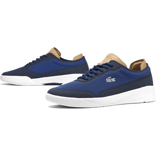 kody promocyjne oficjalna strona buty jesienne Trampki męskie Lacoste niebieskie