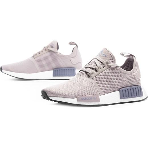 Adidas buty sportowe damskie nmd sznurowane bez wzorów na