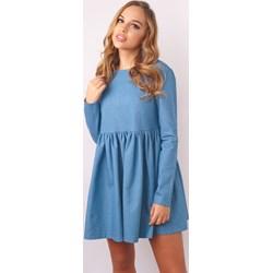 eecf9b19 Sukienka niebieska z długimi rękawami
