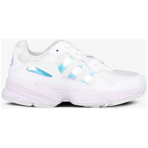 Adidas buty sportowe damskie białe gładkie na płaskiej podeszwie