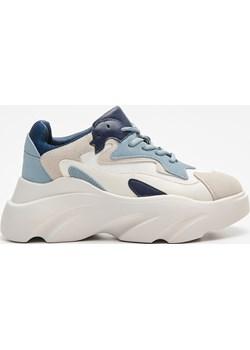 Cropp - Chunky sneakers - Niebieski Cropp   - kod rabatowy