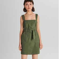 61b3f1a3 Sukienka Cropp zielona na ramiączkach mini