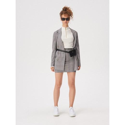 wylot Spódnica Sinsay mini Odzież Damska XJ szary Spódnice UNCJ