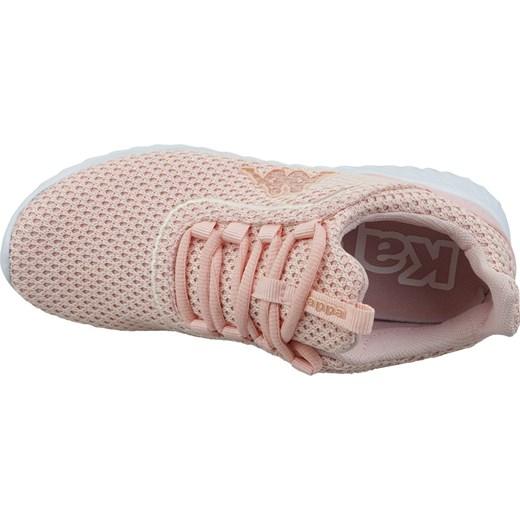 dobra jakość Buty sportowe damskie różowe Kappa płaskie bez