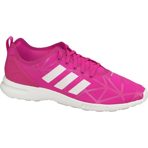 Buty sportowe damskie różowe Adidas zx flux gładkie