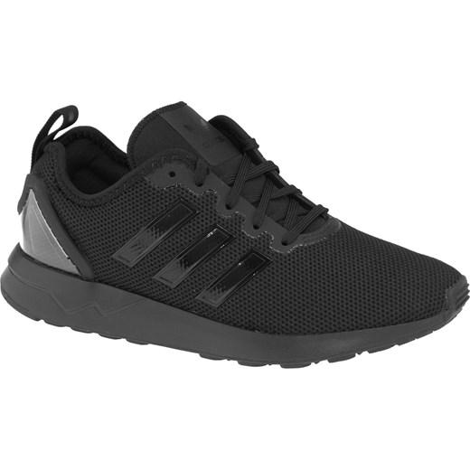 Buty sportowe damskie czarne Adidas zx flux płaskie sznurowane na wiosnę