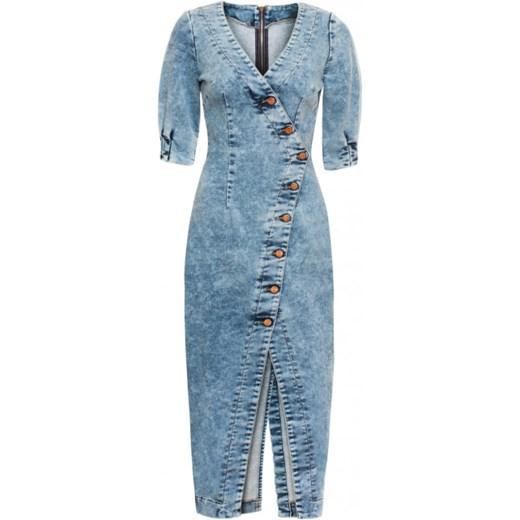 85005c72 Sukienka jeansowa z guzikami Riada Bizuu showroom.pl