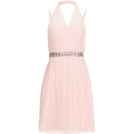 Sukienka Bonprix na wesele bez rękawów z kryształkami z dekoltem w serek